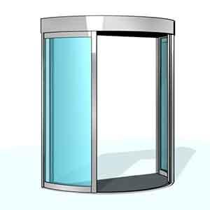 درب-اتوماتیک-شیشه-ای-گرد